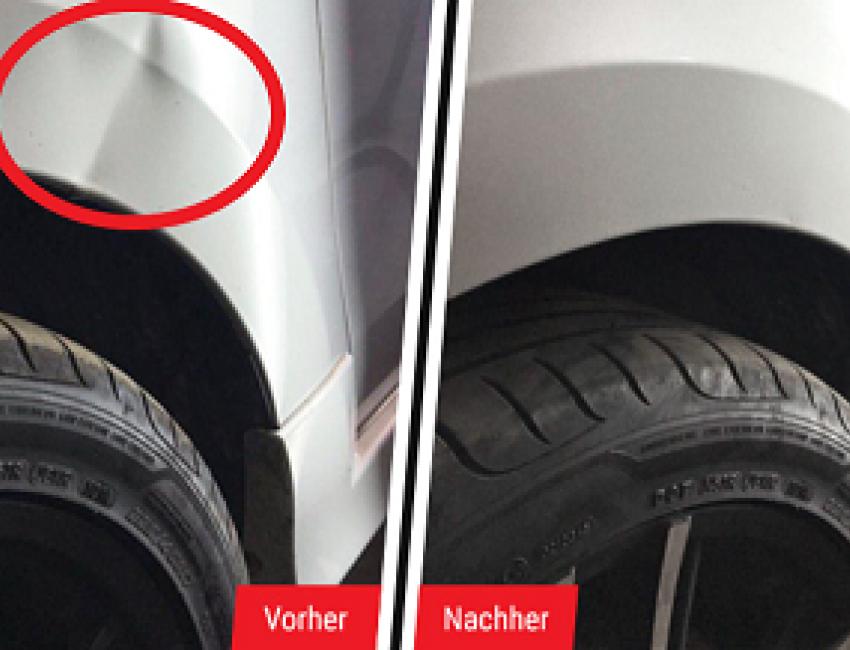 Smart Repair kostengünstige Beseitigung von Schäden am Lack.
