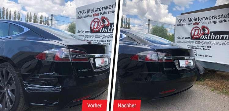 Tesla Smart-Repair für Lackschäden in Halle & Leipzig